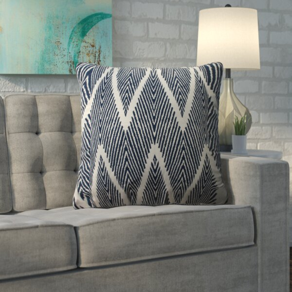 Oliver 100% Cotton Throw Pillow by Mercury Row| @ $31.99